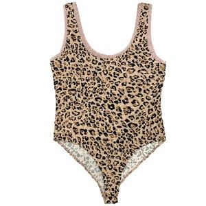 NEW Heart & Hips One Piece Animal Print Laced